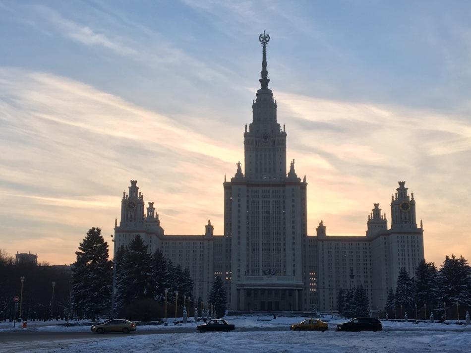 Universität Lomonossow direkt neben der Weltcup - Rodelbahn