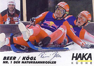 Reinhard Beer und Herbert Kögl-Rodeln-Naturbahnrodler aus Österreich