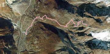 unsere Route zur Hütte