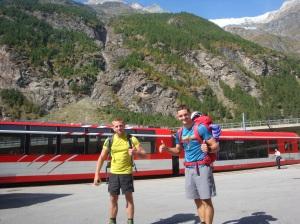Naturbahnrodeln; Thomas Kammerlander Europameister 2016 und Florian Glatzl Staatsmeister 2016 im Mattertal kurz vor Zermatt