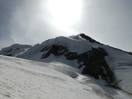 Serac-Zone auf dem Weg zum Gipfel.