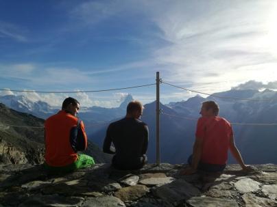 Rodlergespräche bei herrlichem Panorama und Sonnenschein