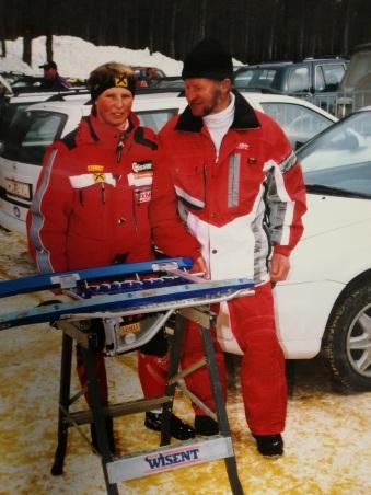 Elvira mit ihren Vater und Trainer Alfred Holzknecht