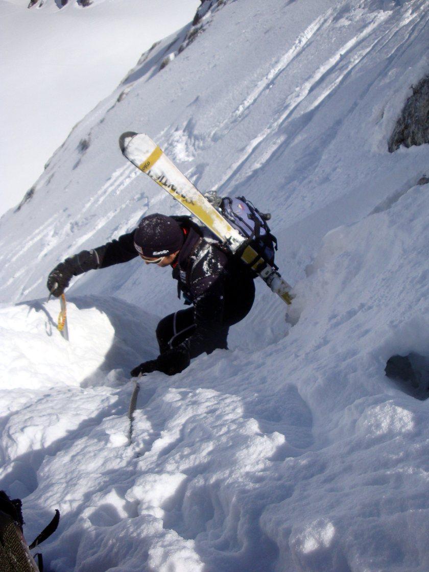 Am Westgrat des winterlichen Dachsteins. Rodel Austria Naturbahn Trainer Gerhard Mühlbacher