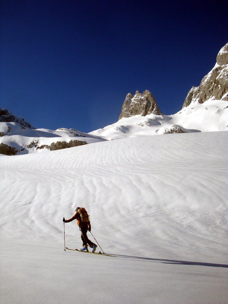 Anstieg über den Gosaugletscher und den Westgrat auf den Hohen Dachstein