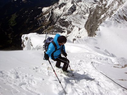 Skiabfahrt über den Westgrat des hohen Dachsteins-Rodel Austria Naturbahn