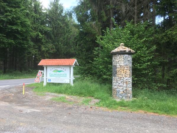 Im Naturpark Geschriebenstein im Burgenland angekommen