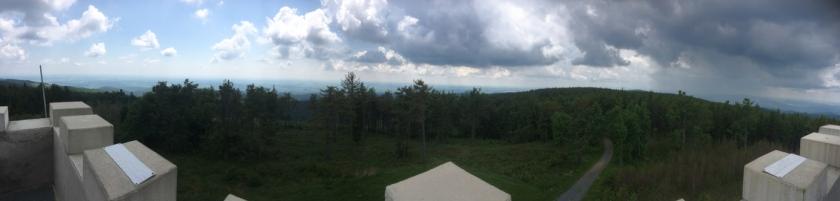 Panorama vom Geschriebenstein - dem höchsten Berg im Burgenland