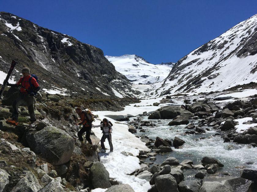 Rodel Austria Naturbahn - Skitour auf den höchsten Berg von Salzburg