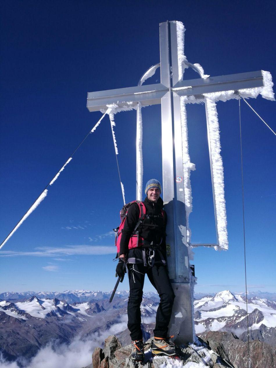 Gerald Kammerlander auf der Wildspitze