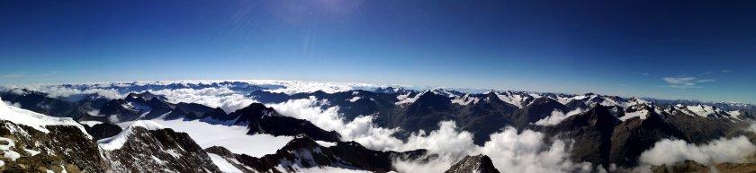 am Südgipfel der Wildspitze, Rodel Austria Naturbahn