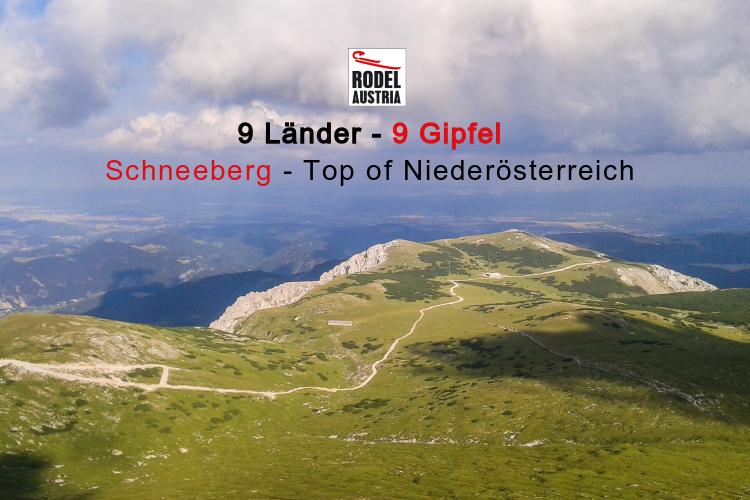 im Rahmen unser Aktion-9 Länder-9 Gipfel bestiegen wir den Schneeberg in Niederösterreich