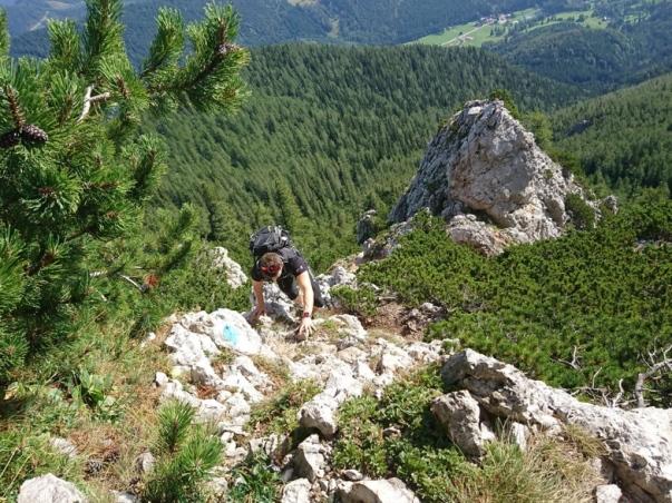 am Nandlgrat. Auf dem Weg zum Gipfel des Schneebergs.