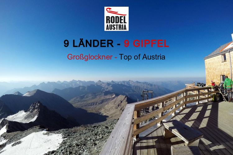 9 Länder-9 Gipfel. Österreichische Naturbahnrodel-Stars besteigen die höchsten Gipfel von Österreich