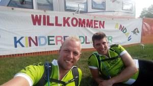Rodel Austria Naturbahnrodel-Stars beim Kinderradlager der Naturfreunde in Andau