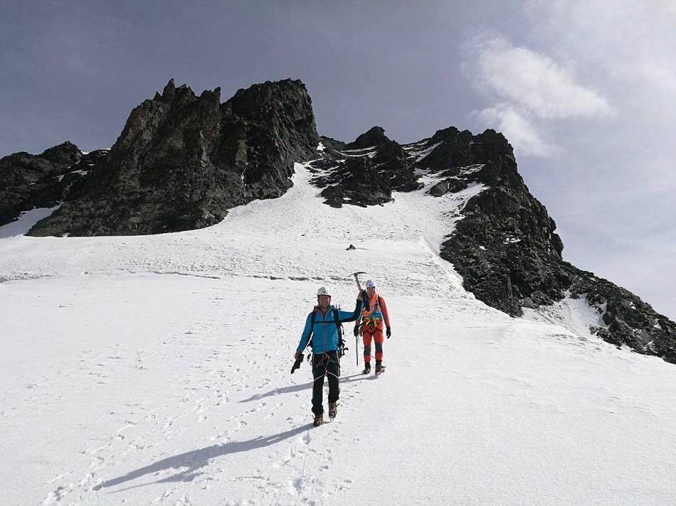 Abstieg zum Rimpfischsattel-Rimpfischhorn