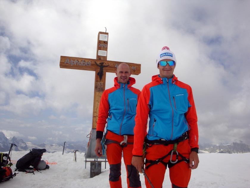 Thomas Kammerlander und Gerald Kammerlander am Alphubel 4.206m