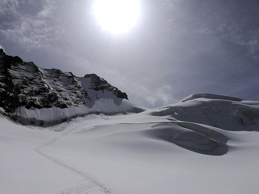 Rimpfischhorn-Aufstieg-Rimpfischsattel