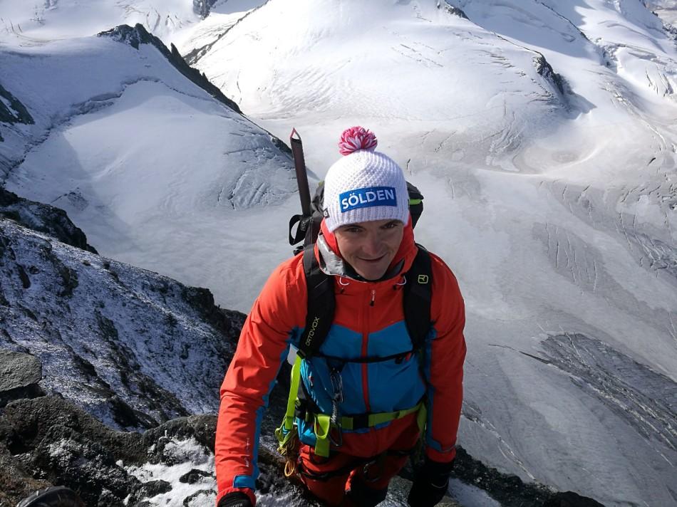Thomas Kammerlander am Feechopf, unterhalb der Mellichgletscher