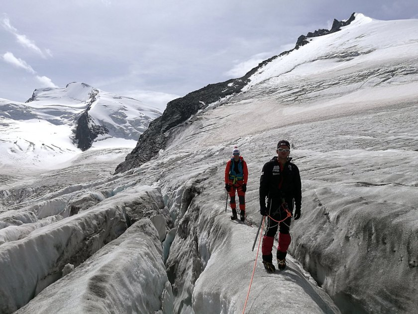 Gletscherspalten-Allalingletscher