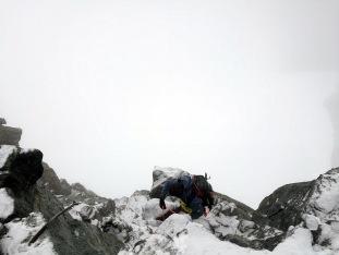 Gerhard Mühlbacher an der Steilstufe kurz unterhalb vom Allalinhorn