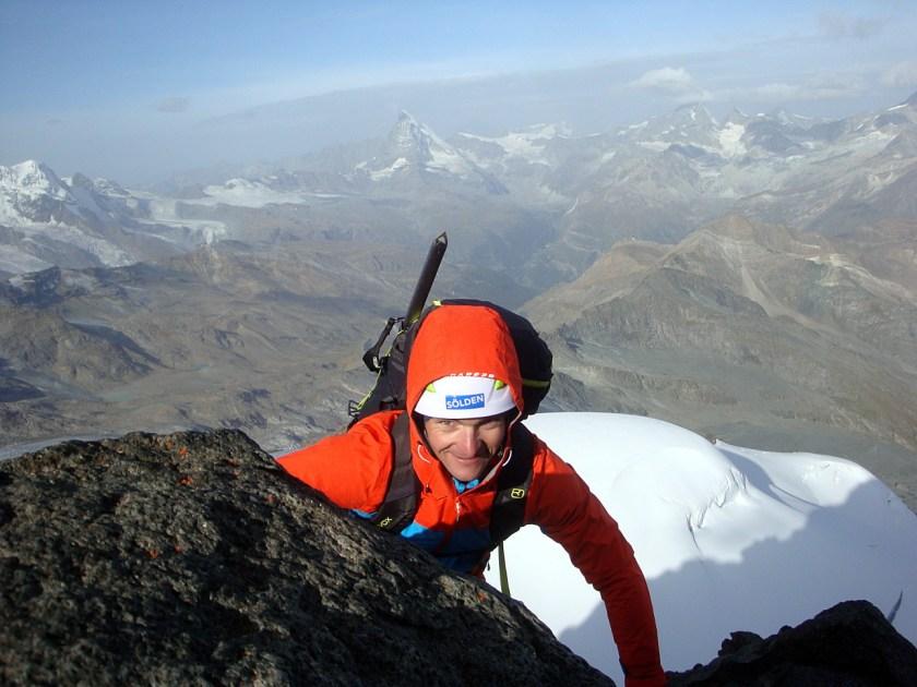 Thomas Kammerlander-Sölden-beim Aufstieg zum Rimpfischhorn.