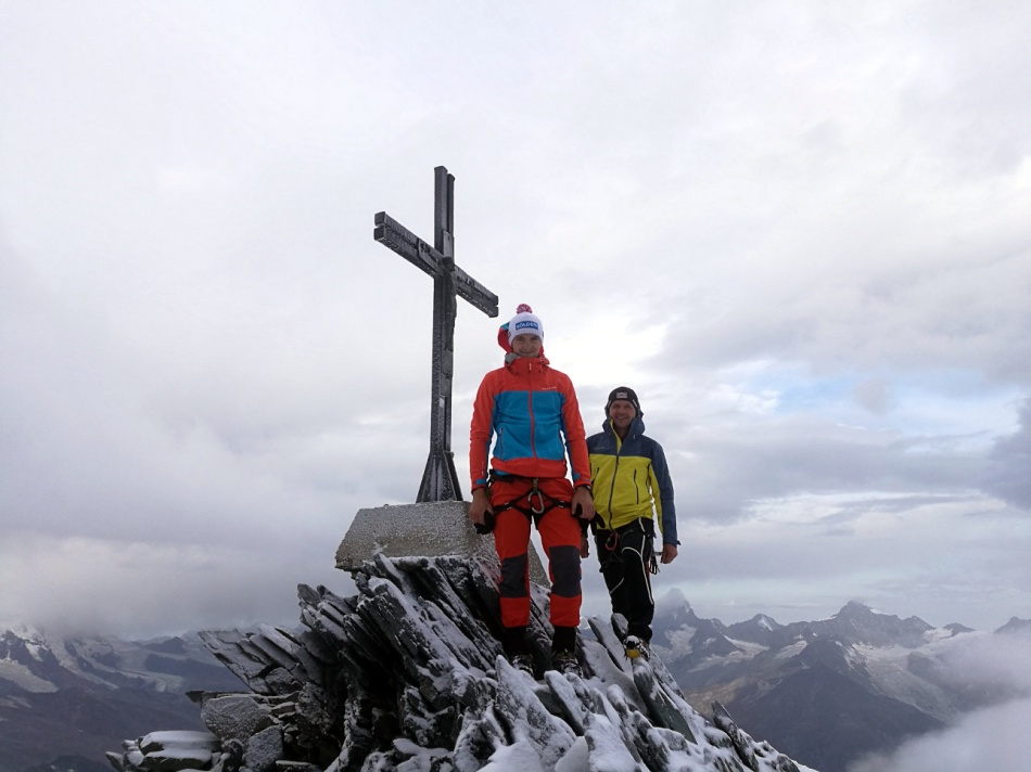 Thomas Kammerlander und Gerhard Mühlbacher am Allalinhorn 4.027m